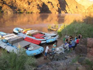 CRATE boats camped across from Deer Creek