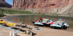 Camp at Nankoweep on Grand Canyon Rafting Trip