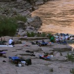 Cots on Grand Canyon Rafting Trip