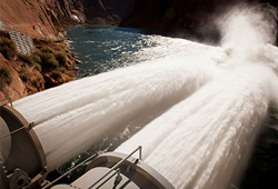 Water released for high flow experiment in 2012 from the Bureau of Reclamation