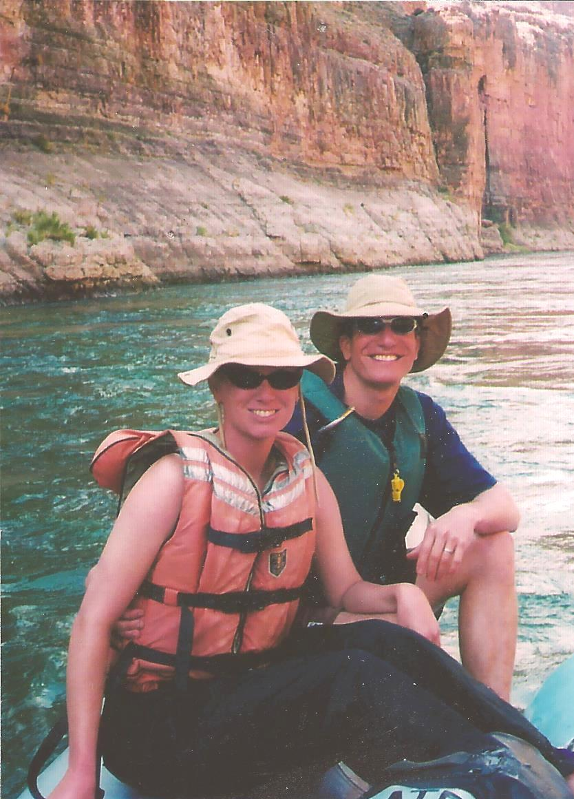 Mike and Leslie on a CRATE trip through the Grand Canyon. Yep! She liked it!