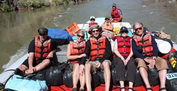 Riding the Motorized Raft Down the Colorado River