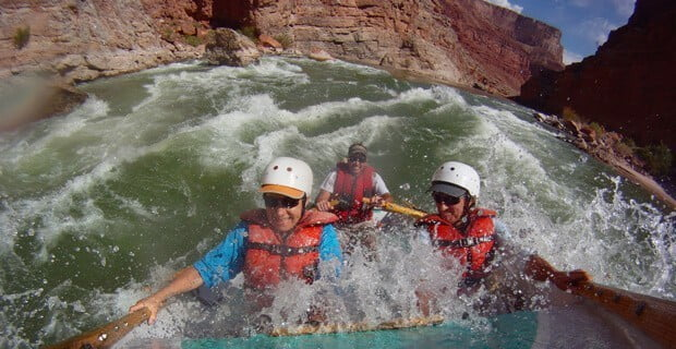 Marble Canyon Rapids on a Dory