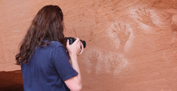 Ancient Hand Prints at Lathrop Canyon