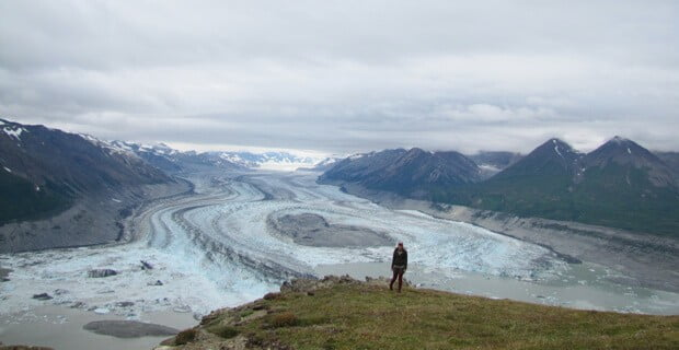 Lowell Glacier From the top of Goatherd Mountain