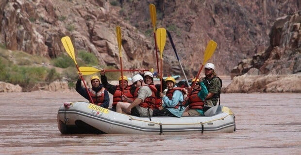 Paddle Rafts Require Precision and Teamwork