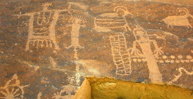 Petroglyphs abound in Desolation Canyon