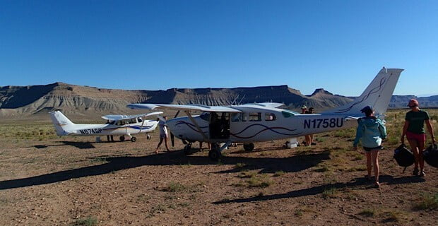 Planes on the Airstrip at Sand Wash