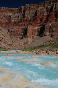 The Little Colorado River in the Grand Canyon.