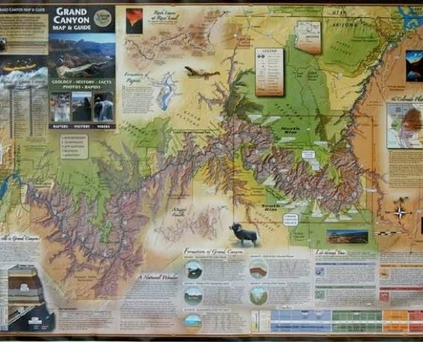 Grand Canyon Map Front