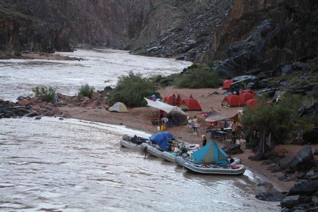 tents and rain