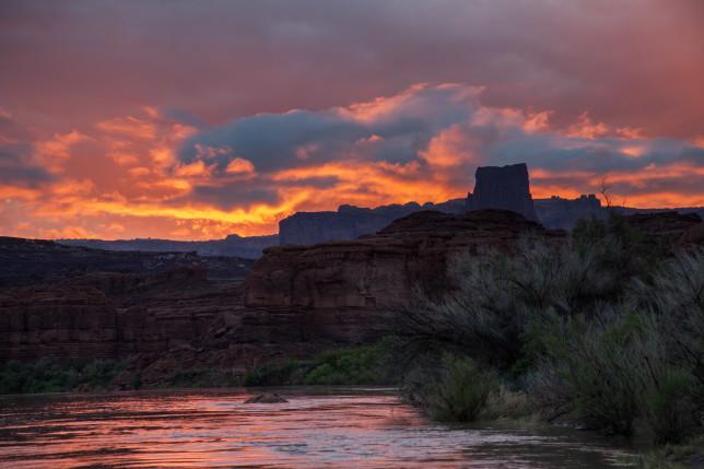 Lathrop Canyon Sunset