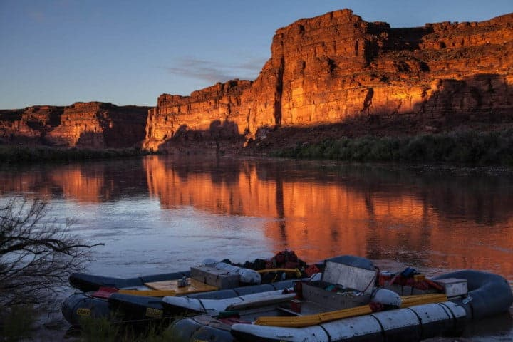 Sunrise of the Colorado River