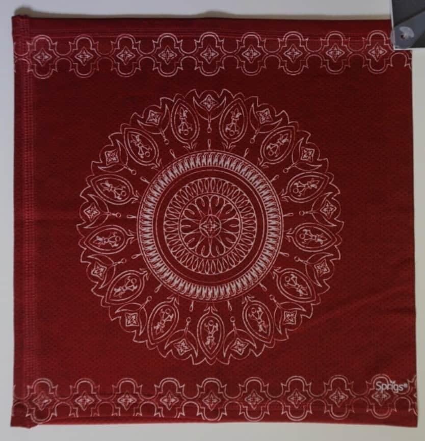 Slink Reversible No-Tie Bandana Batik Burnt Red