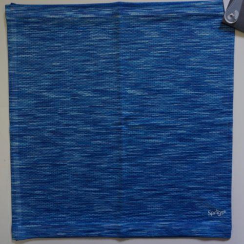 Slink Reversible No-Tie Bandana Blue Melange