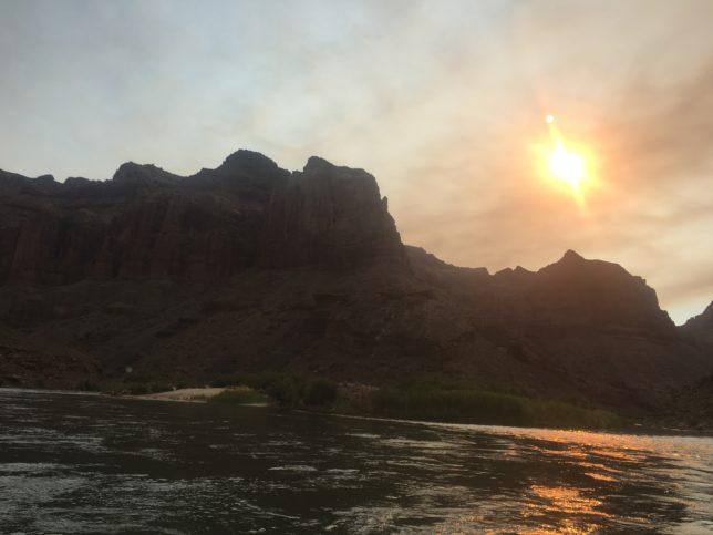 Smokey sky at the Little Colorado River