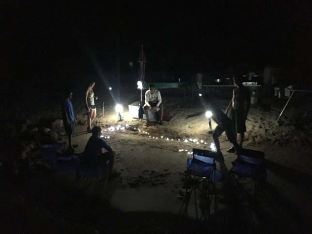 Night game of washers