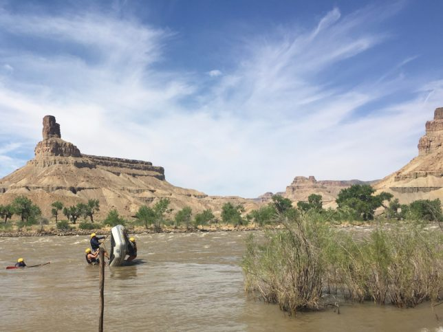 Green River Boat Flip Drill